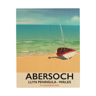 Abersoch, Llyn Peninsula Wales holiday poster Wood Canvases
