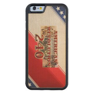 ABH American Revolution 240th Anniversary Carved Maple iPhone 6 Bumper Case