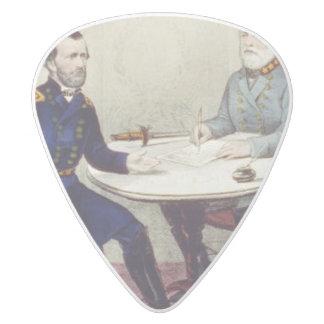 ABH Appomattox White Delrin Guitar Pick