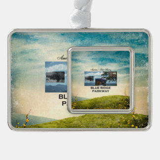 ABH Blue Ridge Parkway Silver Plated Framed Ornament