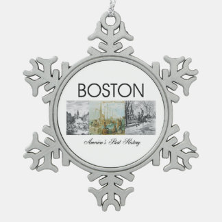 ABH Boston Snowflake Pewter Christmas Ornament