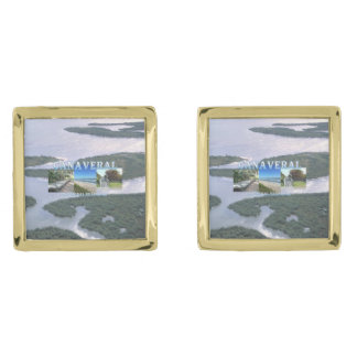 ABH Canaveral NS Gold Finish Cuff Links