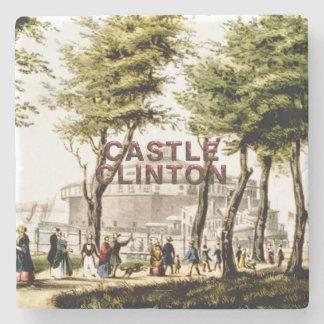 ABH Castle Clinton Stone Beverage Coaster