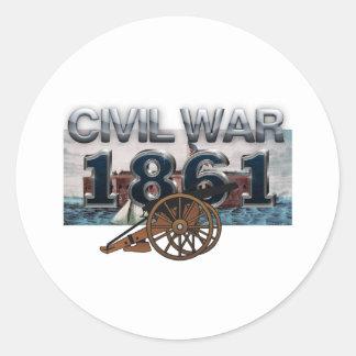 ABH Civil War 1861 Classic Round Sticker