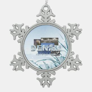 ABH Denali Snowflake Pewter Christmas Ornament