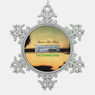 ABH Everglades Snowflake Pewter Christmas Ornament
