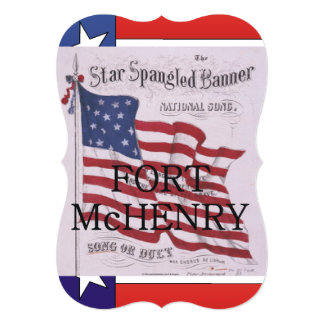 ABH Fort McHenry 13 Cm X 18 Cm Invitation Card