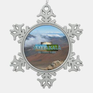ABH Haleakala Snowflake Pewter Christmas Ornament