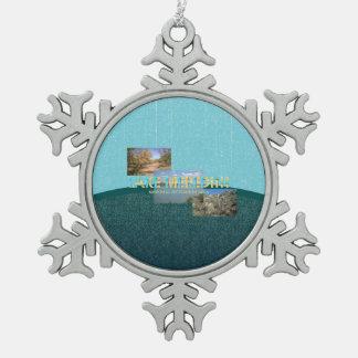 ABH Lake Meredith Snowflake Pewter Christmas Ornament