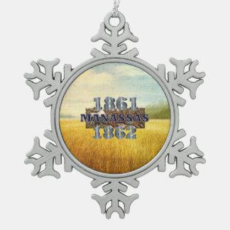 ABH Manassas Snowflake Pewter Christmas Ornament