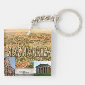 ABH Nashville Double-Sided Square Acrylic Key Ring