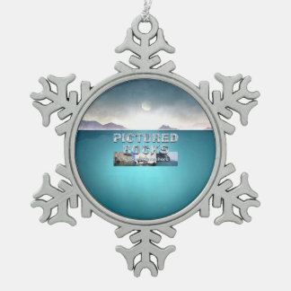 ABH Pictured Rocks Pewter Snowflake Decoration