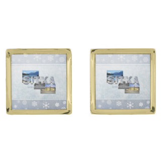 ABH Sitka Gold Finish Cufflinks