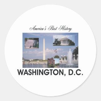 ABH Washington DC Classic Round Sticker