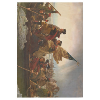 ABH Washington's Crossing Wood Poster