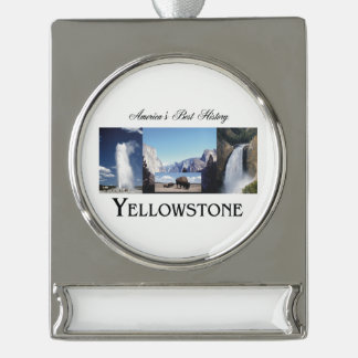 ABH Yellowstone Silver Plated Banner Ornament