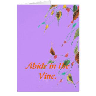 Abide Greeting Card
