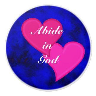 Abide in God R - Ceramic Knob