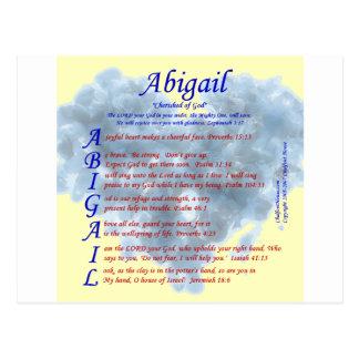 Abigail Acrostic Postcard