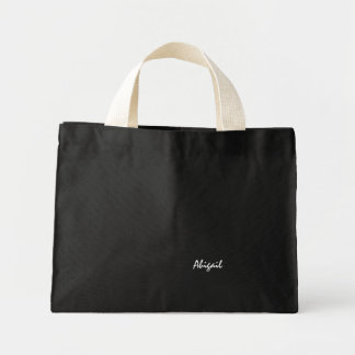 Abigail black canvas bag