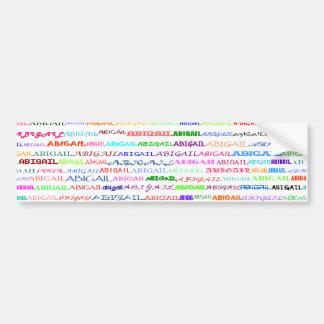 Abigail Text Design II Bumper Sticker