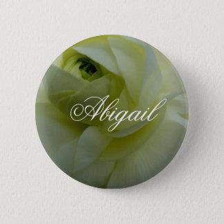 Abigail White Flower Name Badge