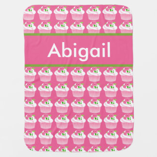 Abigail's Personalized Cupcake Blanket