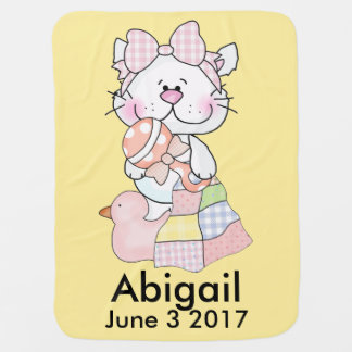 Abigail's Personalized Kitty Baby Blanket