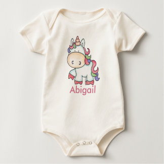 Abigail's Personalized Unicorn Gifts Baby Bodysuit
