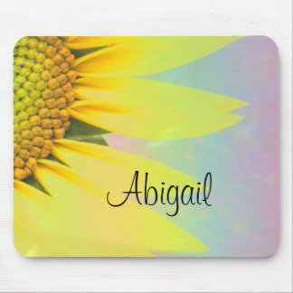 Abigal rainbow sunflower mouse pad
