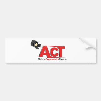 Abilene Community Theatre Logo Bumper Stickers
