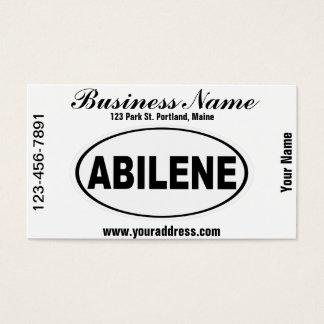 Abilene Texas Business Card