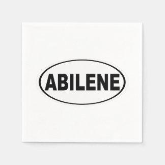 Abilene Texas Disposable Serviette
