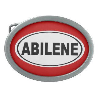 Abilene Texas Oval Belt Buckle