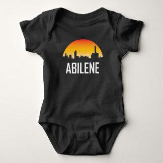 Abilene Texas Sunset Skyline Baby Bodysuit