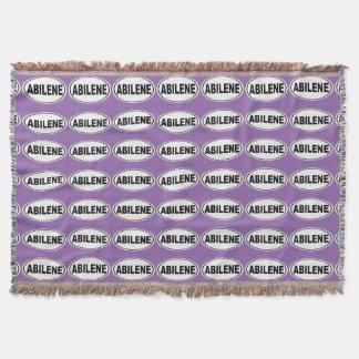 Abilene Texas Throw Blanket