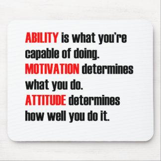 ability motivation attitude mouse pads