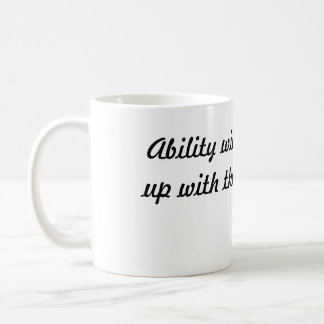 Ability will never catch up with the demand for... basic white mug