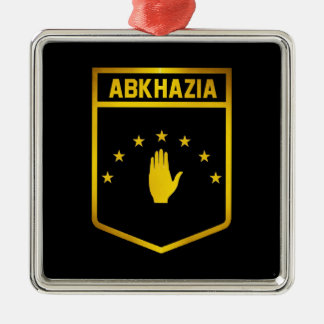 Abkhazia Emblem Silver-Colored Square Decoration
