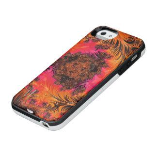 Ablaze in a Fiery Fleur de Magma iPhone SE/5/5s Battery Case