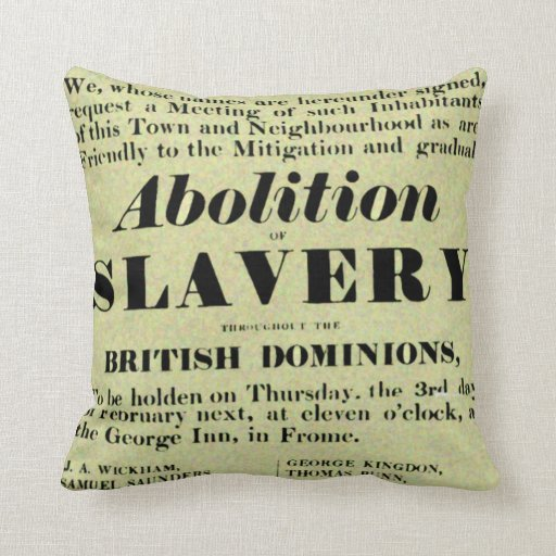 Abolition of Slavery Pillows