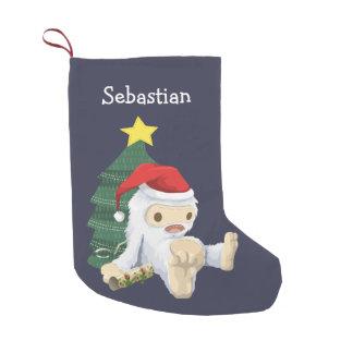 Abominable Snowman Christmas Small Christmas Stocking