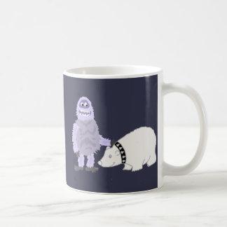 Abominable Snowman with Pet Polar Bear Coffee Mug