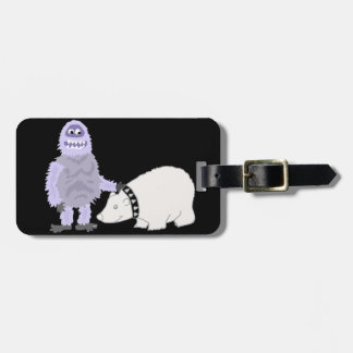 Abominable Snowman with Pet Polar Bear Luggage Tag