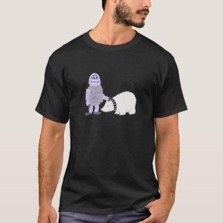 Abominable Snowman with Pet Polar Bear T-Shirt