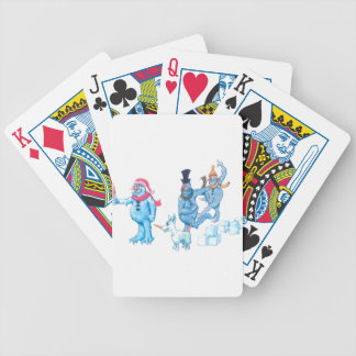 Abominable Snowmen and Dog Bicycle Playing Cards