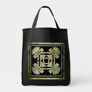 aboriginal african symbolic linocut bag