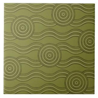 Aboriginal art bush ceramic tile