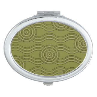 Aboriginal art bush vanity mirrors