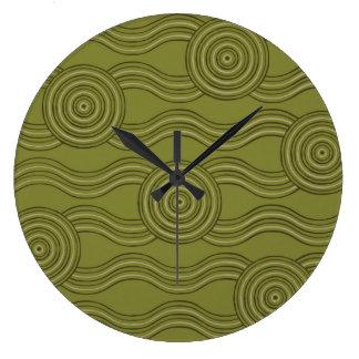 Aboriginal art bush wall clocks